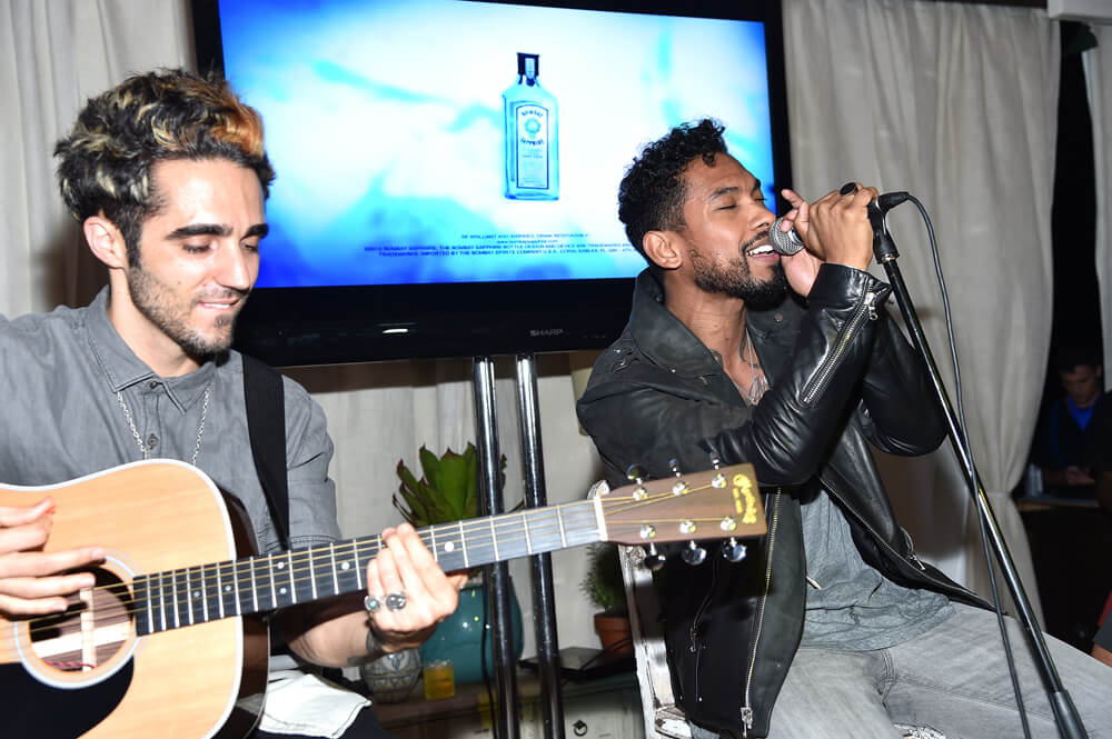 Miguel performing during the 5th Annual BOMBAY SAPPHIRE Artisan Series Finale at Soho Beach House during SCOPE Miami Beach
